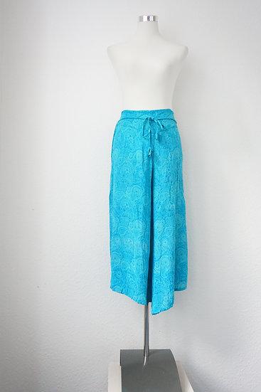 """""""Hippie"""" - Blaue Hose mit Blumendruck"""