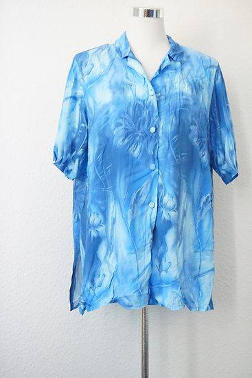 """""""Batik Baby""""- Blaue Vintage Bluse"""