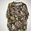 Thumbnail: Bluse mit Blumenmuster grün/rosa/curry/schwarz