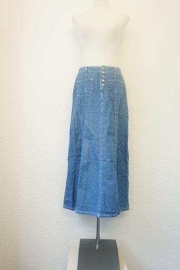 Blue Jeansrock mit Knopfleiste