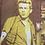 """Thumbnail: """"I Love James Dean!""""- Beige Hemd mit braun/gelbem Motiv"""
