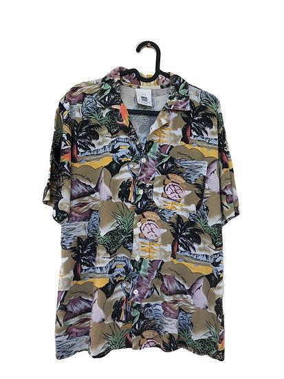 Hemd in Vintage Farben/Hawaii Thema