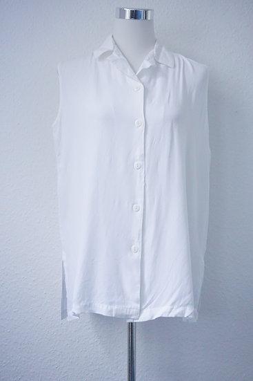 """""""Weiße Weste""""- Weiße ärmellose Bluse"""