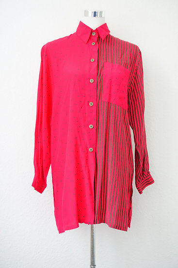 """""""Dots and Stripes"""" -pinkes Kleid"""