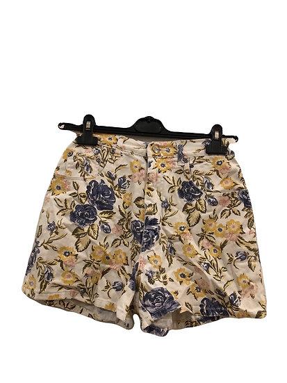 Damen Shorts mit Blumen, denim
