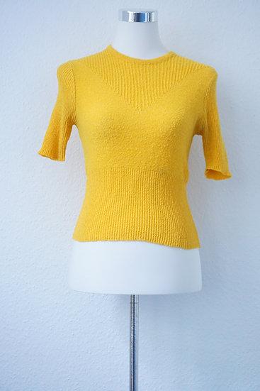 70er Jahre Gelber Pullover