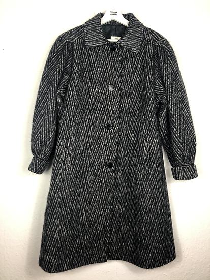 Vintage Wollmantel grau/schwarz