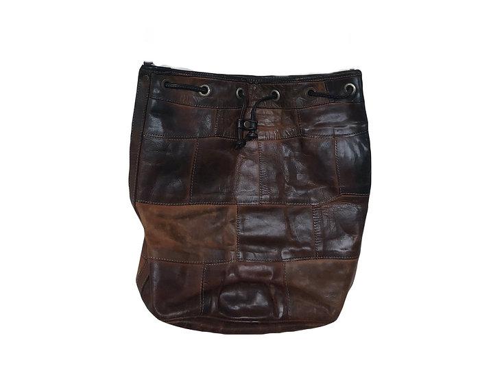 Braune Vintage Tasche mit Lederschnüre