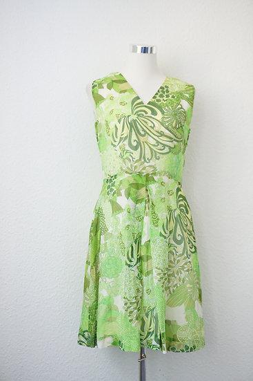"""Fairy Dress"" - Gruenes Kleid mit Print"