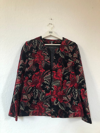 Vintage Jacke schwarz/rot/gold