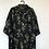 Thumbnail: Schwarzes Seidenhemd mit Bambusmuster