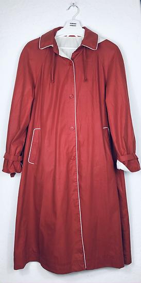"""""""Rotkäppchens Mantel!"""" - Roter Mantel mit weissen Besätzen"""