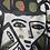 Thumbnail: Weisser Pulli mit Druck schwarz/grün/orange