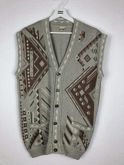 Vintage Herren Weste grau/beige/braun