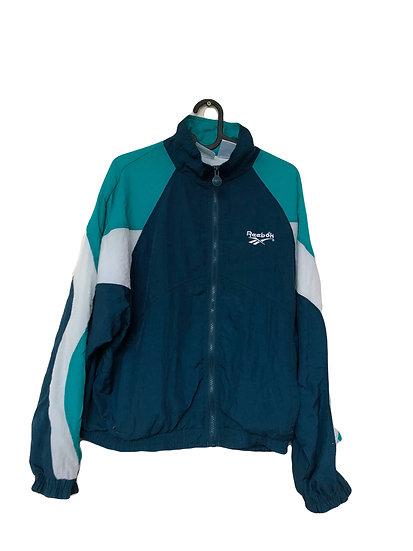 Blaue Reebok Sportjacke mit Grün und Weiß