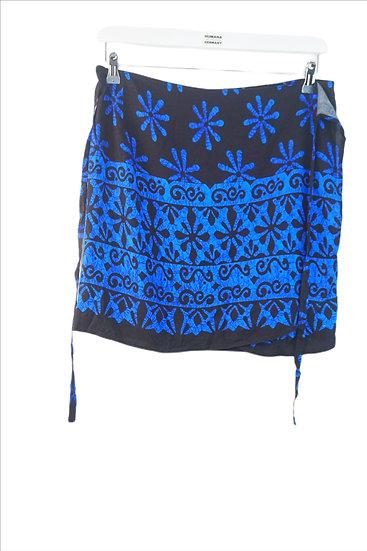 Wickelrock schwarz blau Hippie