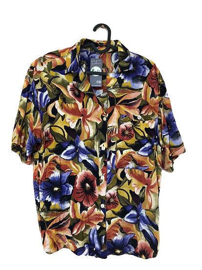 Vintage Bluse mit Tropenmuster