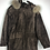 Thumbnail: Braune Vintage Wildlederjacke mit Pelzkragen