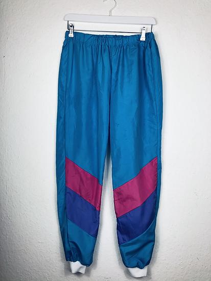 Vintage Sporthose lila/rosa/türkis