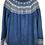 Thumbnail: Blauer Norwegerpulli mit grau/weissem Borte