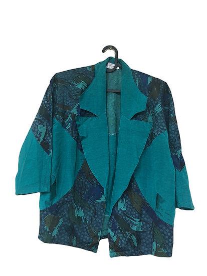 Grüne Vintage Jacke mit Vintage Muster
