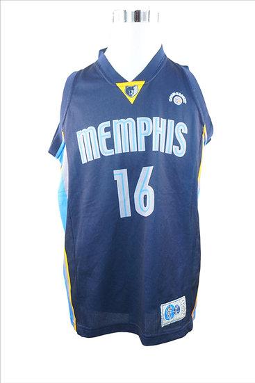 "Dunkelblaues T-Shirt mit ""Memphis"" -Logo"