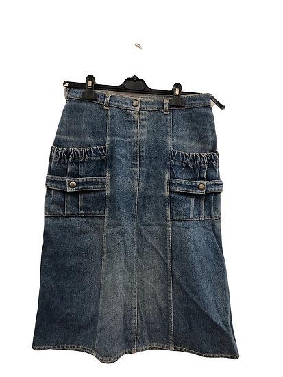 Jeans Rock mit großen Taschen