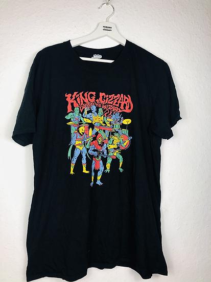 Schwarzes Band-Shirt King Gizzard & The Lizard Wizard