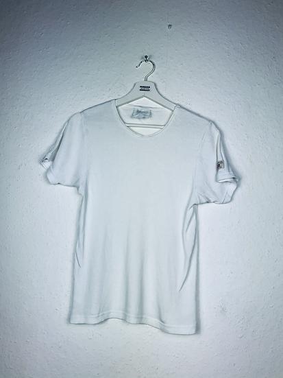 Weisses Levi's T-Shirt, gerippt