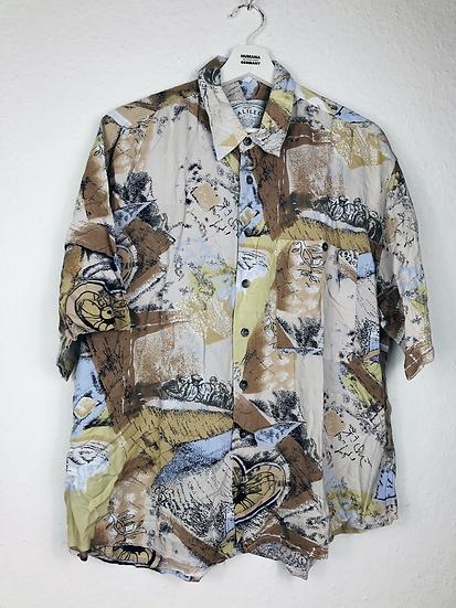 Super cooles Vintage Hemd grau/braun/curry/schwarz