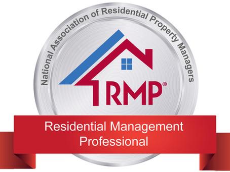 Local Property Manager Achieves Prestigious National Designation!