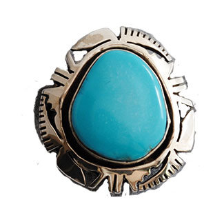 UNKNOWN ARTIST, NAVAJO TURQUOISE RING