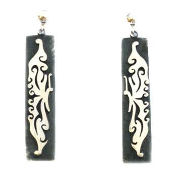 RAYMOND KYASYOUSIE, HOPI EARRINGS