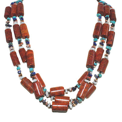 CHERYL LUCERO, APPLE CORAL NECKLACE