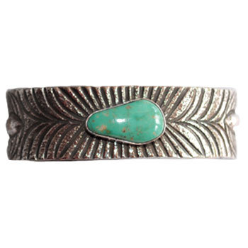 CHRIS BILLIE, NAVAJO TURQUOISE BRACELET