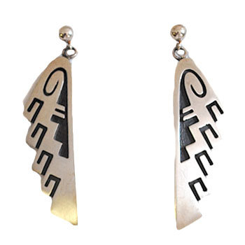 DORAN SEHONGVA, HOPI EARRINGS