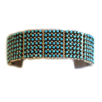 APRIL HALOO, ZUNI TURQUOISE BRACELET