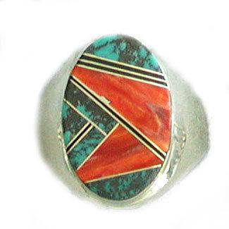 UNKNOWN ARTIST, NAVAJO INLAID RING