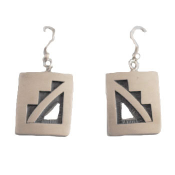 TRINIDAD LUCAS, HOPI EARRINGS
