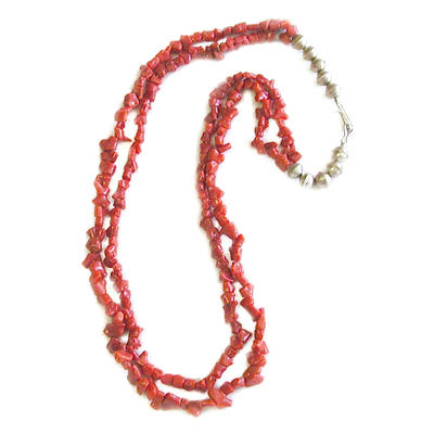 UNKNOWN ARTIST, CORAL BEAD NECKLACE