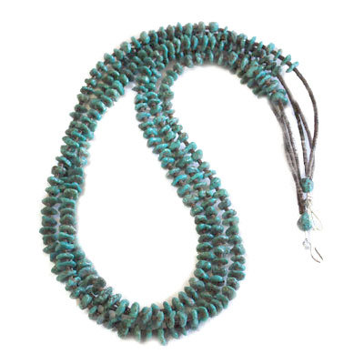 FANNIE GARCIA, TURQUOISE BEAD NECKLACE