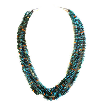 MOLLY TENORIO, TURQUOISE BEAD NECKLACE