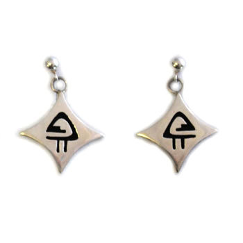 FERNANDO PUHUHEFVAYA, HOPI EARRINGS
