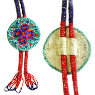 UNKNOWN ARTIST, BEADED BOLO TIE