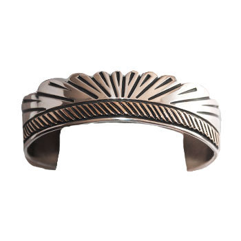 UNKNOWN ARTIST, NAVAJO SILVER & GOLD BRACELET