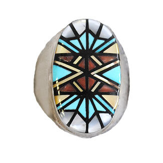 ANGELENA LAAHTY, ZUNI INLAID RING