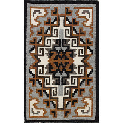 NAVAJO, TWO GRAY HILLS RUG, ARNOLD BEGAY
