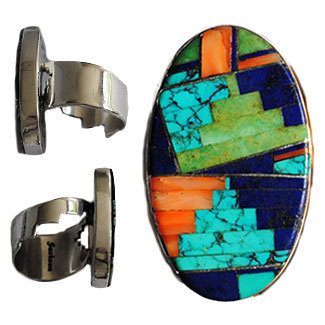 TOMMY JACKSON, NAVAJO INLAID RING