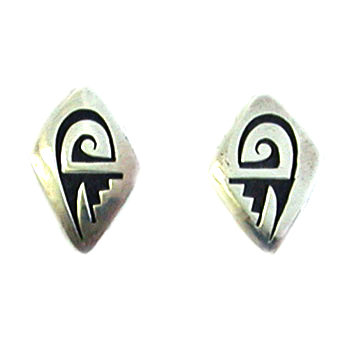 MITCHELL SOCKYMA, HOPI EARRINGS