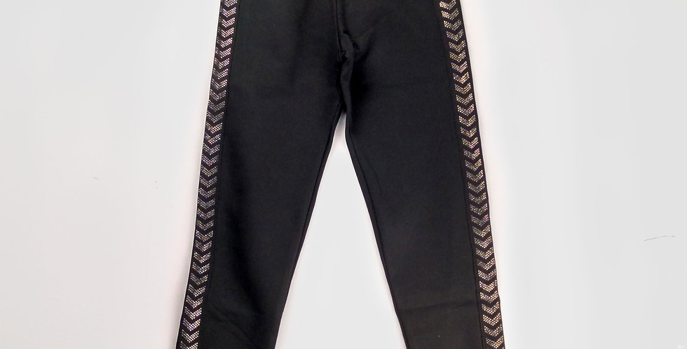 Black Striped Leggings | Girls